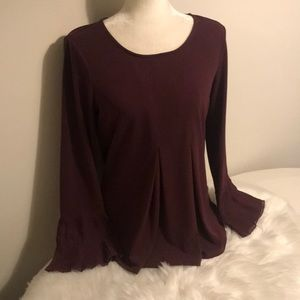 Adriana Papell plum purple blouse size small